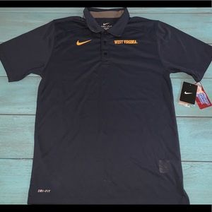 🏡 MENS SIZE SMALL NIKE WEST VIRGINIA WVU POLO TOP
